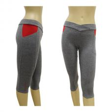 Pantalones Piratas Black Crown Gris Rojo 124211202
