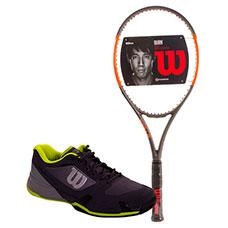 PACK WILSON BURN 100 CV Y ZAPATILLAS WILSON RUSH PRO 2.5