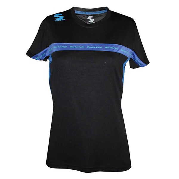 CAMISETA PADEL SOFTEE CLUB MUJER NEGRO ROYAL