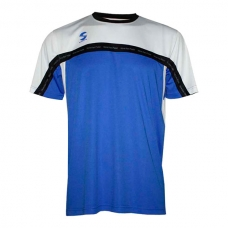 Camiseta Padel Softee Club Royal Blanco Negro